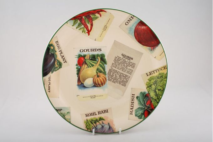 """Poole Seed Packets Dinner Plate Gourds 10 3/4"""""""
