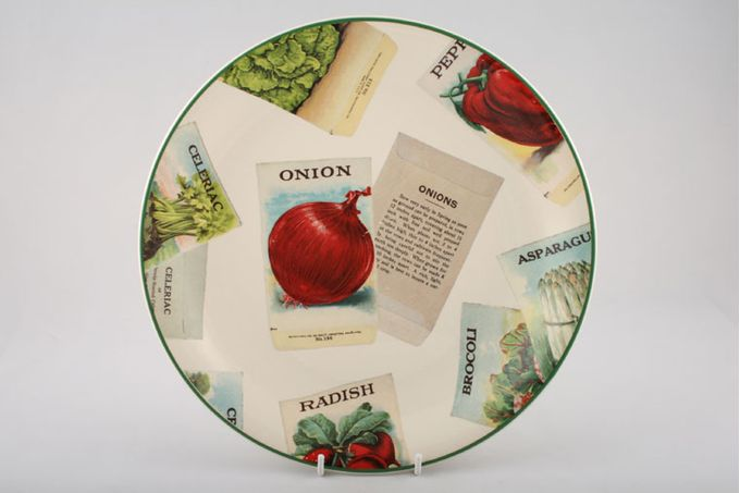 Poole Seed Packets Dinner Plate Onion 10 3/4""