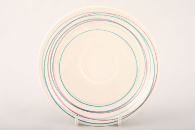 "Poole Freehand Breakfast Saucer Narrow Pattern 6 3/8"""