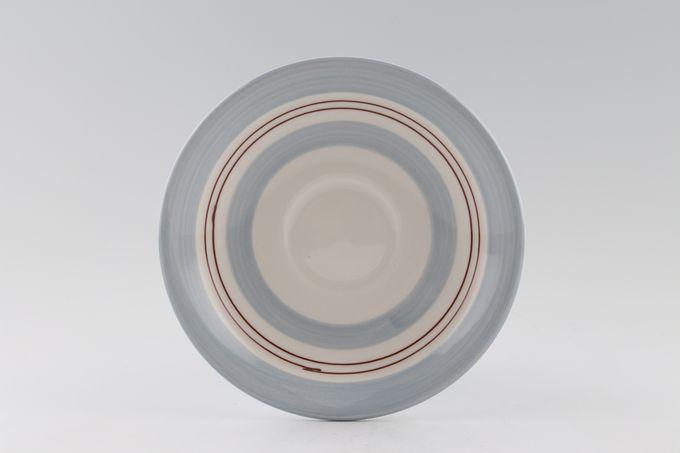 "Poole Freehand Breakfast Saucer Wide Pattern 6 3/8"""
