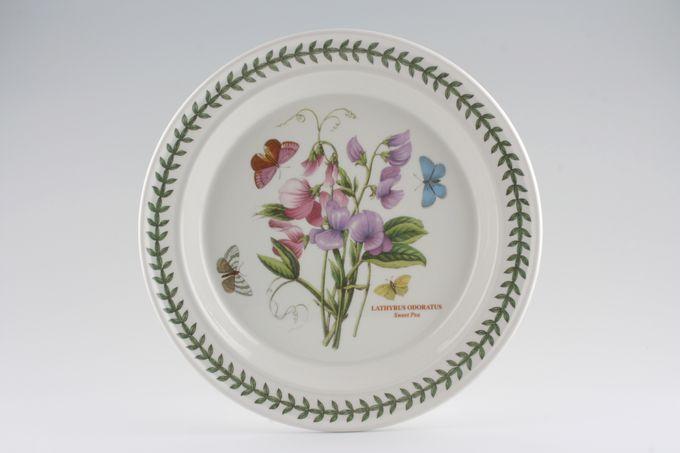 "Portmeirion Botanic Garden Dinner Plate Lathyros Oderatus - Sweet Pea - named 10 1/2"""