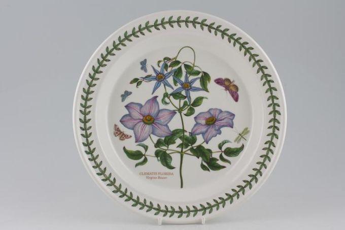 """Portmeirion Botanic Garden Dinner Plate Clematis Florida - Virgins Bower - named 10 1/2"""""""