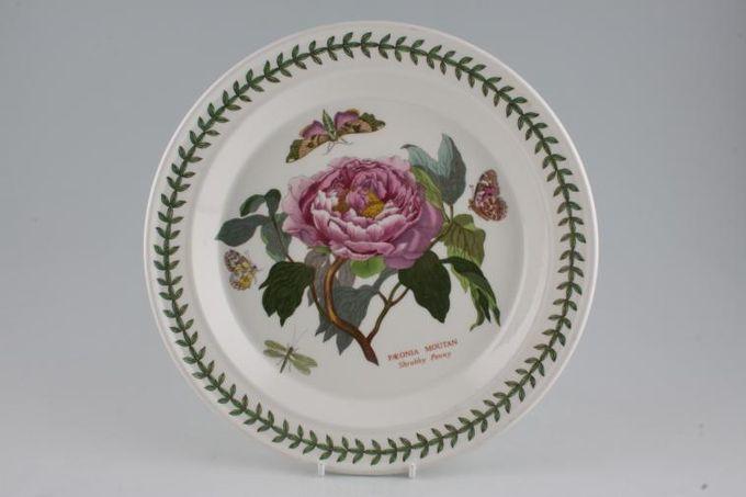 "Portmeirion Botanic Garden Dinner Plate Paeonia Mountain - Shrubby Peony - named 10 1/2"""