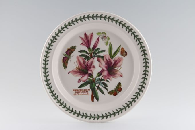 Portmeirion Botanic Garden Dinner Plate Rhododendron Liliiflorum - Lily Flowered Azalea - named 10 1/2""