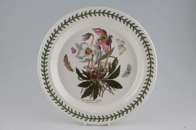 """Portmeirion Botanic Garden Dinner Plate Helleborus Niger - Christmas Rose - named 10 1/2"""""""
