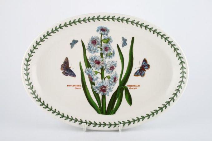 "Portmeirion Botanic Garden Oval Plate / Platter Hyacinthus Orientalis - Eastern Hyacinth - named 10 3/4"""