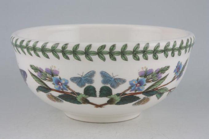 "Portmeirion Botanic Garden Bowl Primula Villosa - Blue Primrose - named 5 1/2"""