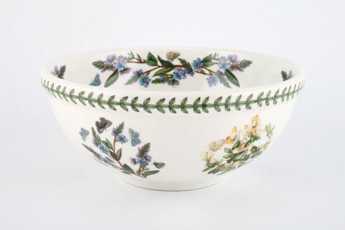 "Portmeirion Botanic Garden Serving Bowl Primula Villosa - Blue Primrose - named 7 3/4"""