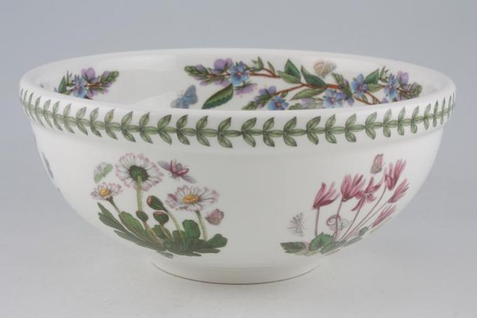 "Portmeirion Botanic Garden Serving Bowl Cyclamen Repandrum - Ivy leaved Cyclamen - named 7 3/4"""