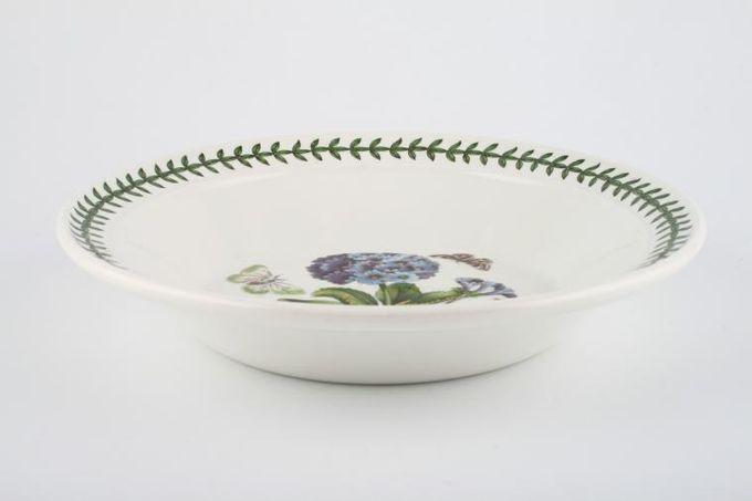"Portmeirion Botanic Garden Rimmed Bowl Primula Villosa - Blue Primrose - named 8 1/2"""