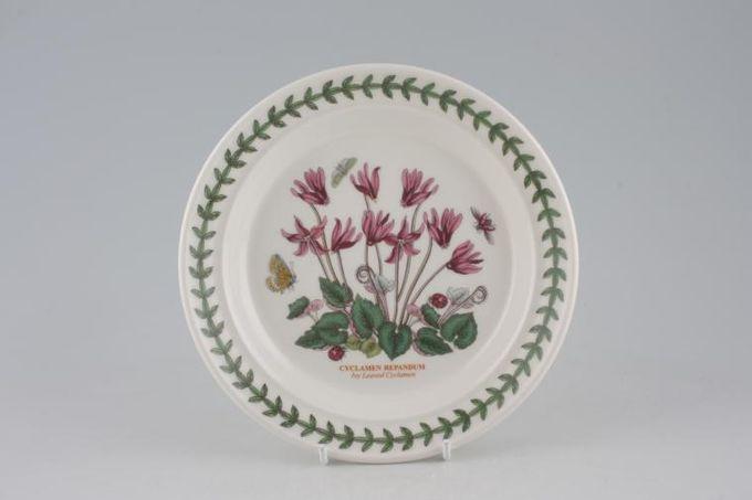 "Portmeirion Botanic Garden Tea / Side Plate Cyclamen Repandum - Ivy Leaved Cyclamen - named 7 1/4"""