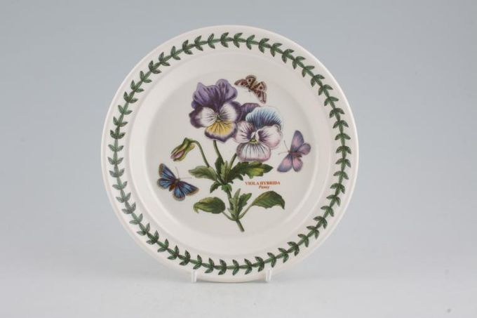 "Portmeirion Botanic Garden Tea / Side Plate Viola Hybrida - Pansy - named 7 1/4"""