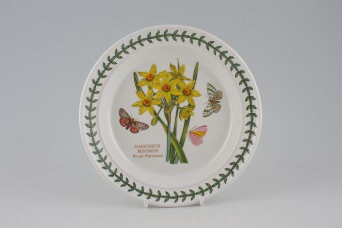 "Portmeirion Botanic Garden Tea / Side Plate Narcissus Minimus - Small Narcissus - named 7 1/4"""