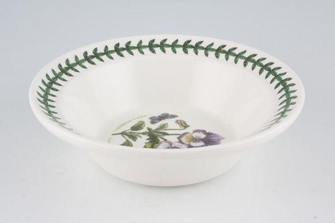 "Portmeirion Botanic Garden Rimmed Bowl Viola Hybrida - Pansy - named 6 1/2"""
