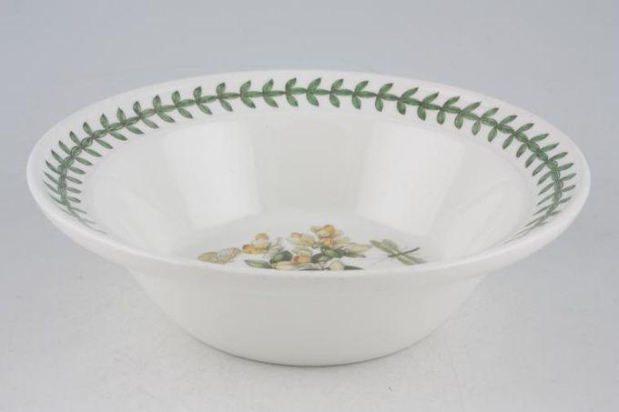 """Portmeirion Botanic Garden Rimmed Bowl Polygala Chamaebuxus - Box Leaved Milkwort - named 6 1/2"""""""
