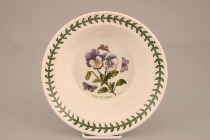 "Portmeirion Botanic Garden Serving Bowl Viola Hybrida - Pansy - named 9"""