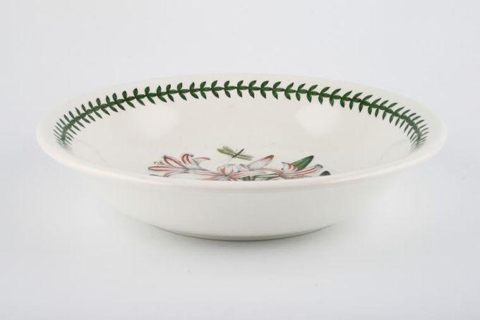 "Portmeirion Botanic Garden Pasta Bowl Amaryllis Belladona - Belladona Lilly - named 8 5/8"""
