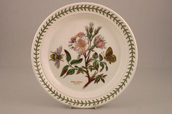"Portmeirion Botanic Garden Salad/Dessert Plate Rosa Canina - Dog Rose - named 8 1/2"""