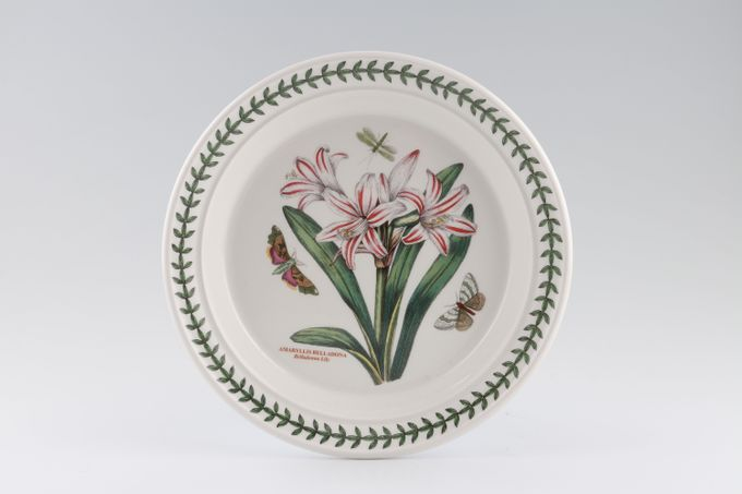 "Portmeirion Botanic Garden Salad/Dessert Plate Amaryllis Belladona - Belladona Lilly - named 8 1/2"""