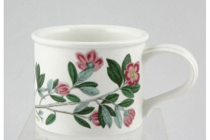 "Portmeirion Botanic Garden Teacup Drum shape - Rhododendron Lepidotum - Rhododendron - named 3 1/4 x 2 5/8"""