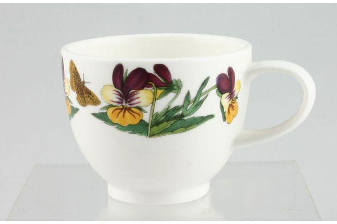 """Portmeirion Botanic Garden Coffee Cup Viola Tricolor - Heartsease - no name 2 1/2 x 2 1/8"""""""