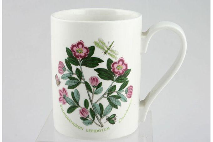"Portmeirion Botanic Garden Mug Drum Shape - Rhododendron Lepidotum - Rhododendron - named 3 1/8 x 4"""