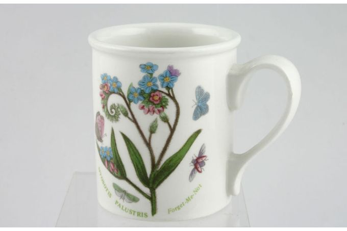 "Portmeirion Botanic Garden Mug Drum shape - Myosotis Palustrus - Forget Me Not - named 3 1/8 x 3 5/8"""
