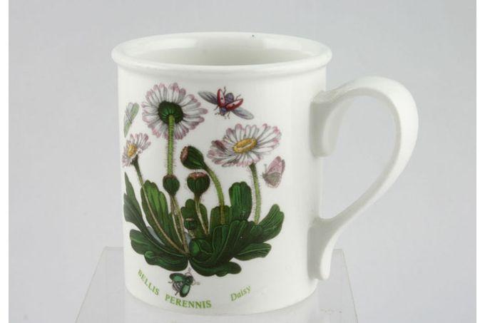 """Portmeirion Botanic Garden Mug Drum Shape - Bellis Perennis - Daisy - named 3 1/8 x 3 5/8"""""""