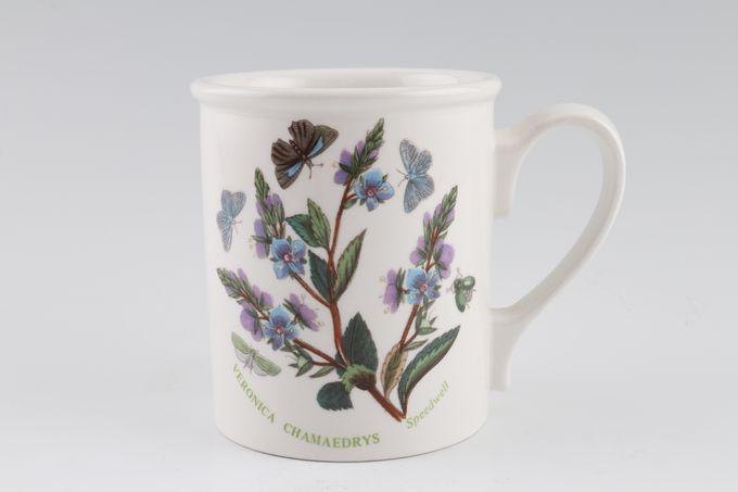 "Portmeirion Botanic Garden Mug Drum Shape - Veronica Chamaedrys - Speedwell - named 3 1/8 x 3 5/8"""