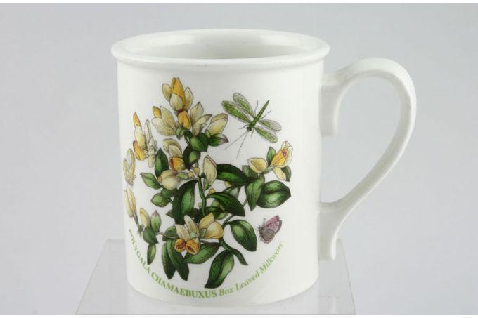 "Portmeirion Botanic Garden Mug Drum Shape - Polygala Chamaeluxus - Box Leaved Milkwort - named 3 1/8 x 3 5/8"""