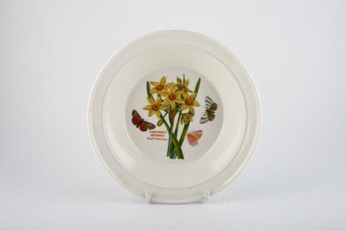 "Portmeirion Botanic Garden Rimmed Bowl Narcissus Minimus - Small Narcissus - named - no pattern on rim 8 1/2"""