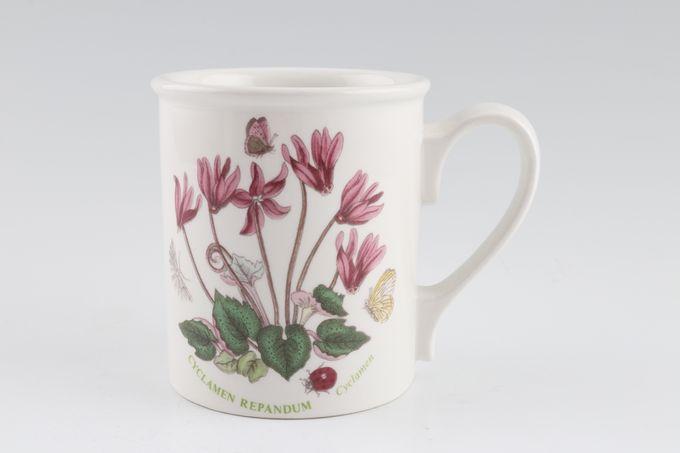 """Portmeirion Botanic Garden Mug Drum Shape - Cyclamen Repandum - Cyclamen - named 3 1/8 x 3 5/8"""""""