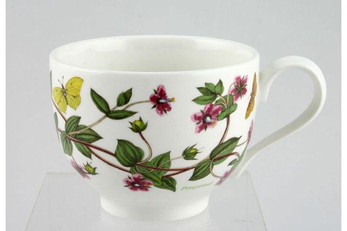 "Portmeirion Botanic Garden Teacup Romantic shape - Anagallis Arvensis - Pimpernel - named 3 1/2 x 2 5/8"""