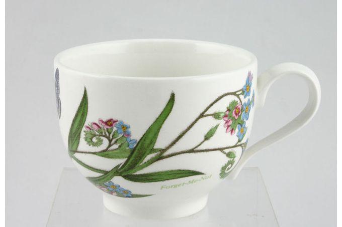 "Portmeirion Botanic Garden Teacup Romantic shape - Myosotis Palustrus - Forget Me Not - named 3 1/2 x 2 5/8"""