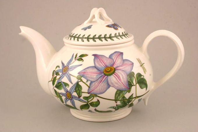 Portmeirion Botanic Garden Teapot Romantic shape - Clematis Florida - Virgins Bower - no name 2pt