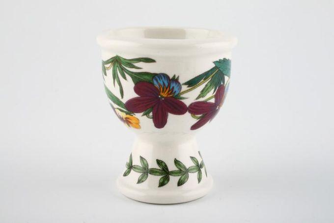 """Portmeirion Botanic Garden Egg Cup Viola Tricolor-Haertsease-no name 2 1/4 x 2 1/2"""""""
