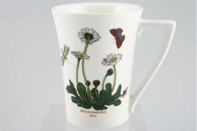"Portmeirion Botanic Garden Mug Tall - Bellis Perennis - Daisy - named 3 1/2 x 4 1/2"""