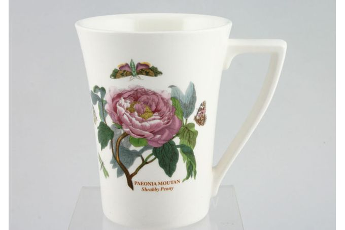 "Portmeirion Botanic Garden Mug Tall - Paeonia Moutan - Shrubby Peony - named 3 1/2 x 4 1/2"""