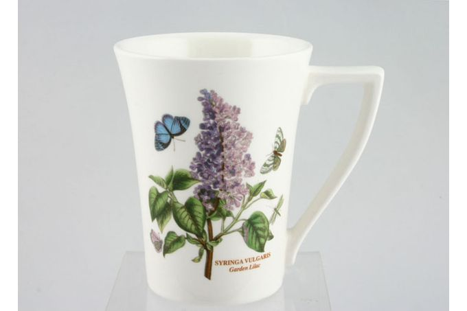 "Portmeirion Botanic Garden Mug Tall - Syringa Vulgaris - Garden Lilac - named 3 1/2 x 4 1/2"""