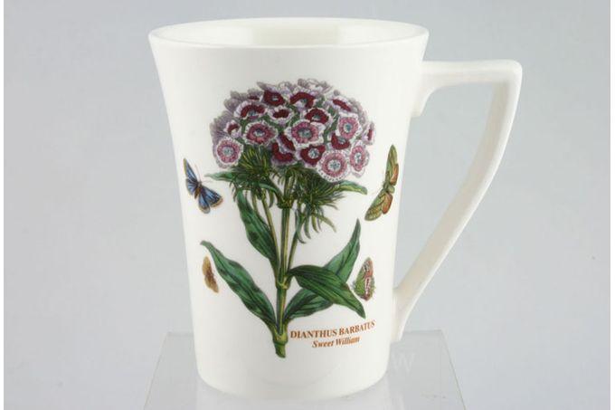 "Portmeirion Botanic Garden Mug Tall - Dianthus Barbatus - Sweet William - named 3 1/2 x 4 1/2"""