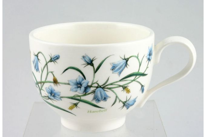 "Portmeirion Botanic Garden Teacup Romantic shape - Campanula Rotundiflora - Harebell - named 3 1/2 x 2 5/8"""