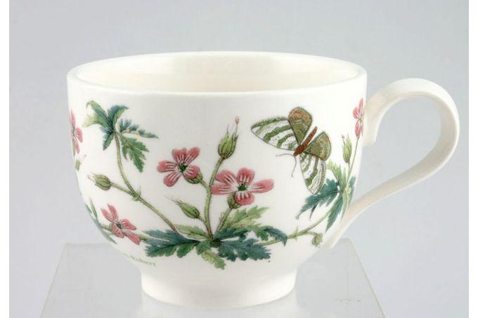 "Portmeirion Botanic Garden Teacup Romantic shape - Geranium Robertianum - Herb Robert - named 3 1/2 x 2 5/8"""