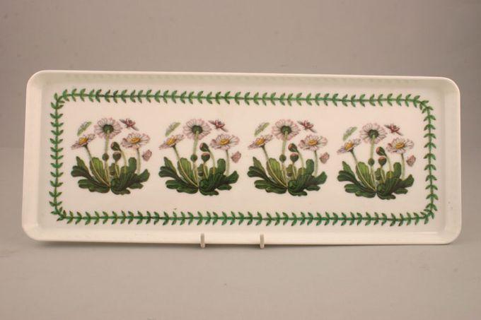 """Portmeirion Botanic Garden Serving Tray Rectangular - Melamine - Bellis Perennis - Daisy 15 x 6"""""""