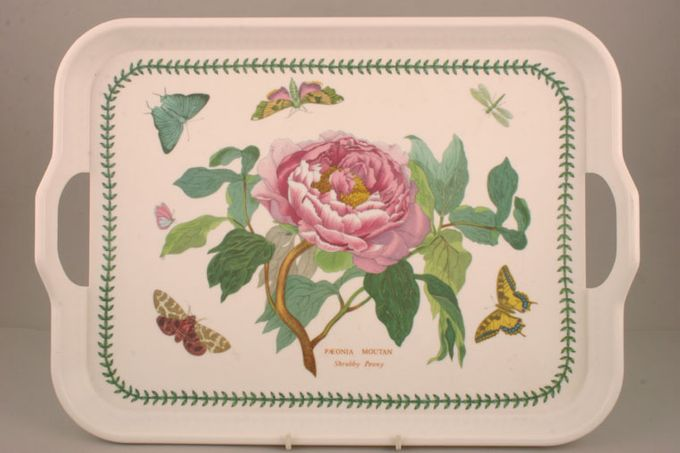"Portmeirion Botanic Garden Serving Tray Rectangular - Handled - Melamine - Shrubby Peony 17 3/4 x 13"""