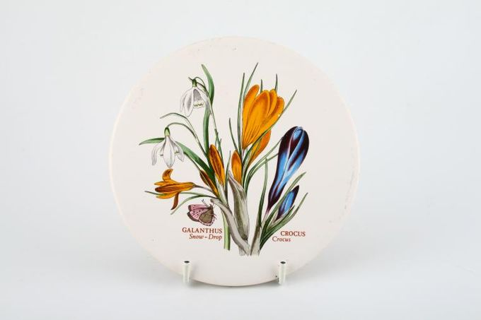 "Portmeirion Botanic Garden Teapot Stand Galanthus Crocus - Snowdrop Crocus - named 6"""