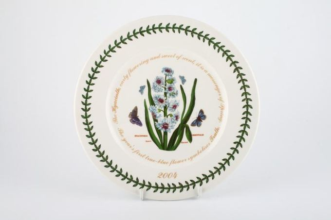"""Portmeirion Botanic Garden Breakfast / Lunch Plate Hyacinthus Orientalis - Eastern Hyacinth - 2004 and words around well of plate 9 1/4"""""""