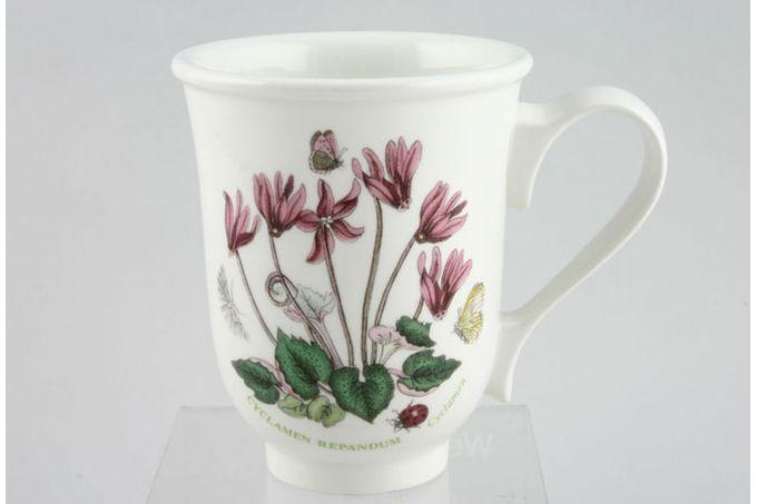 """Portmeirion Botanic Garden Mug Bell Shape - Cyclamen Repandum - Cyclamen 3 1/2 x 4 1/4"""""""