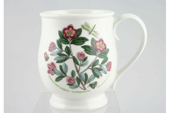 "Portmeirion Botanic Garden Mug Craftsman Shape - Rhododendron Lepidotum - Rohdodendron 3 1/2 x 4 1/2"""