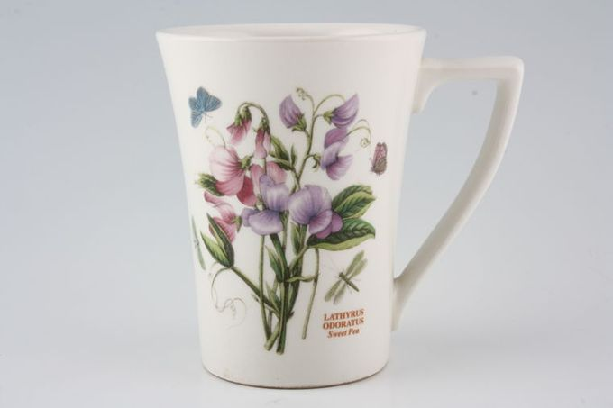 "Portmeirion Botanic Garden Mug Tall - Lathyrus Odoratus - Sweet Pea - named 3 1/2 x 4 1/2"""