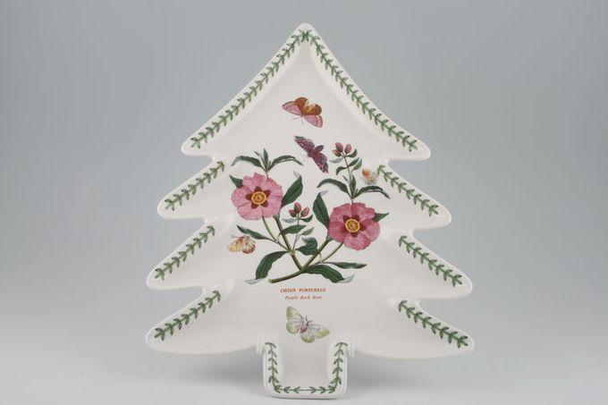 Portmeirion Botanic Garden Dish (Giftware) Christmas Tree Shape, Purple Rock Rose